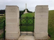 Entrance gate to Maroueil British cemetery, Arras.