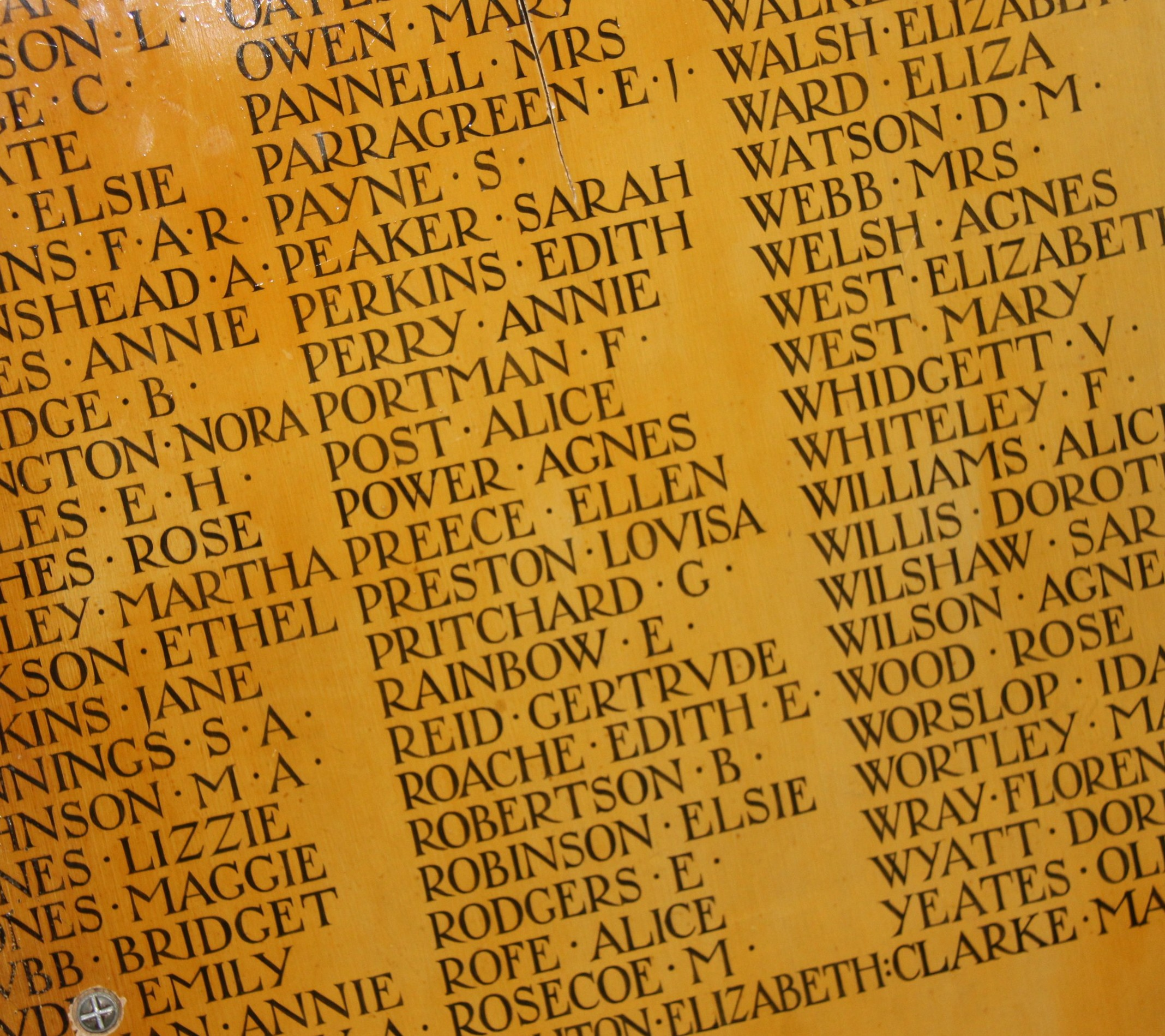 Roll of Honour York Minster